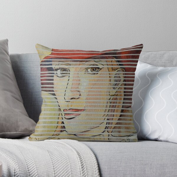Above the cut  Throw Pillow