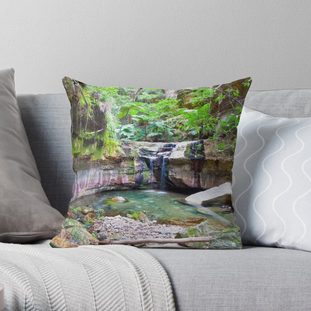 The Moss Gardens Throw Pillow