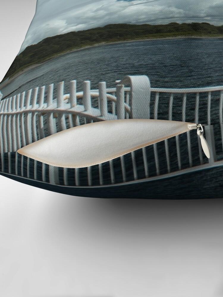 Alternate view of Kilcreggan Pier Throw Pillow