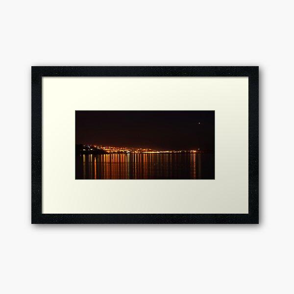 St. Ives at Night Framed Art Print