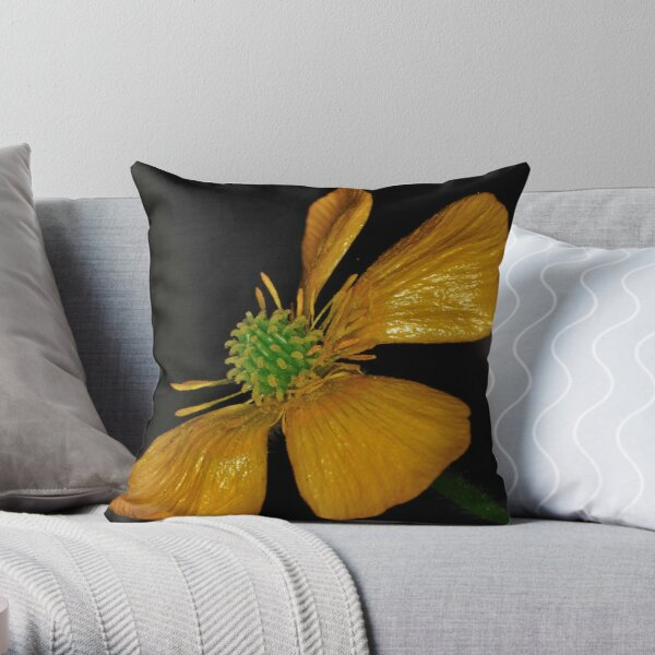 Tired Yet Vibrant Throw Pillow