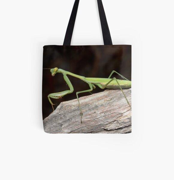 False Garden Mantis - Pseudomantis albofimbriata All Over Print Tote Bag