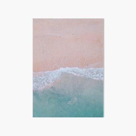 Pink Sands Art Board Print