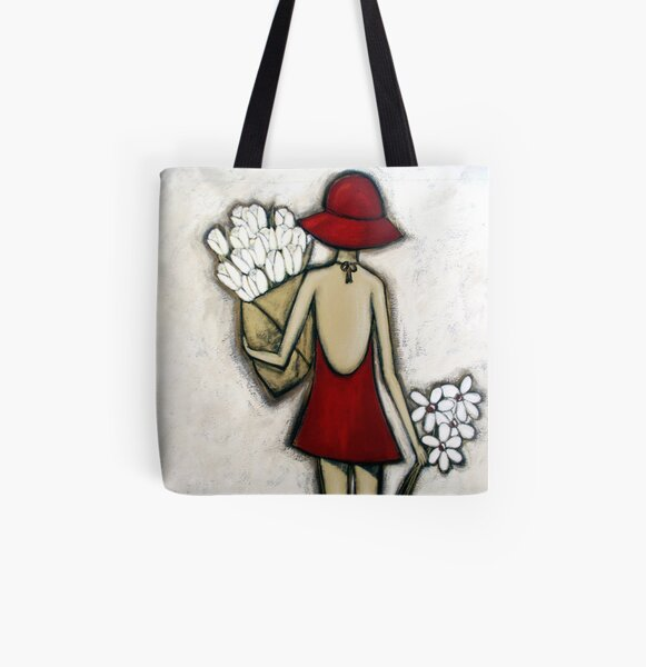 Spring Flower Market All Over Print Tote Bag