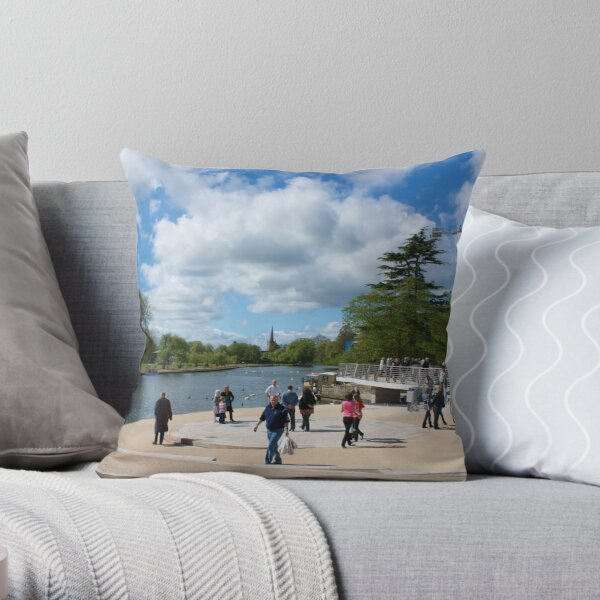 """Amphitheatre """"Fire Fighters Memorial"""" Throw Pillow"""