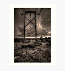 Electrical Storm Art Print