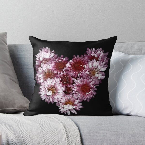 """""""Crysanthemums With Love"""" Throw Pillow"""