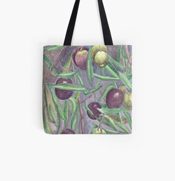 Olives All Over Print Tote Bag