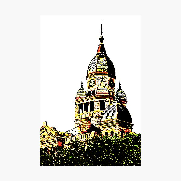 Courthouse Illustration Photographic Print