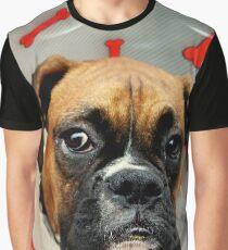 Nicht glücklich - Boxer Dog Series Grafik T-Shirt