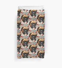 Nicht glücklich - Boxer Dog Series Bettbezug