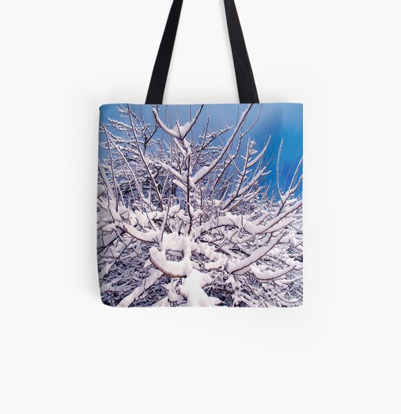 Winters Castle All Over Print Tote Bag