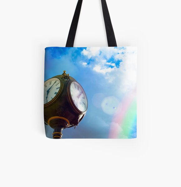 Time Is Beautiful All Over Print Tote Bag