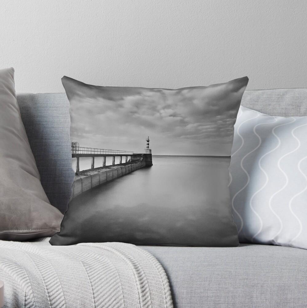Long Pier Throw Pillow