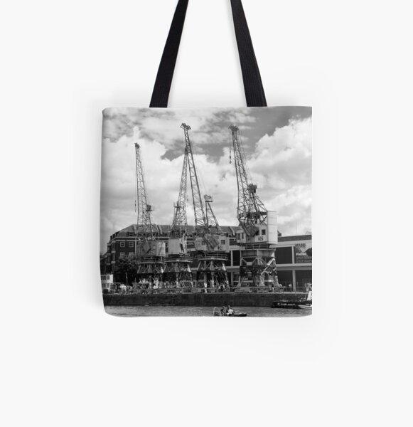 Dock Cranes All Over Print Tote Bag