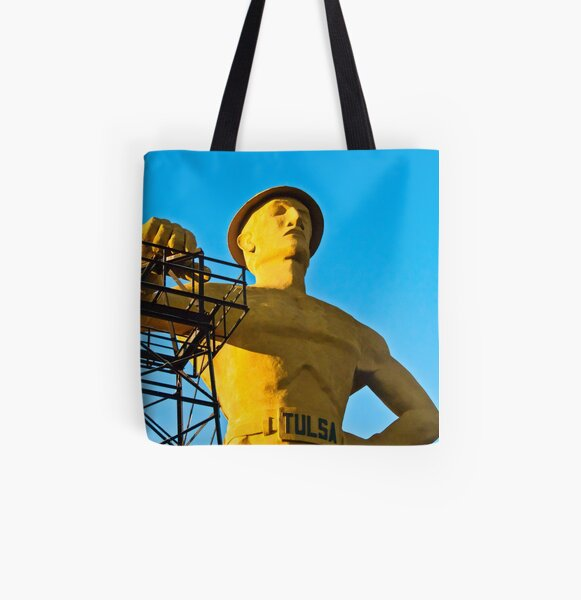 Golden Driller All Over Print Tote Bag