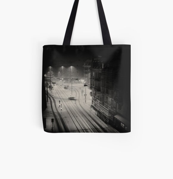 First Snow All Over Print Tote Bag