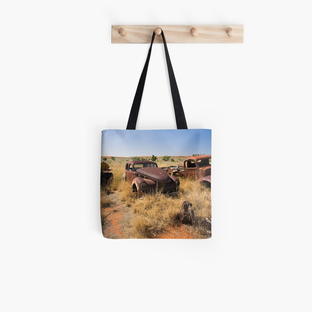 Old Vehicles Wrecks Tote Bag