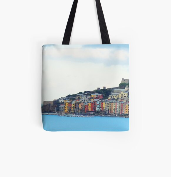 A View of Porto Venere All Over Print Tote Bag