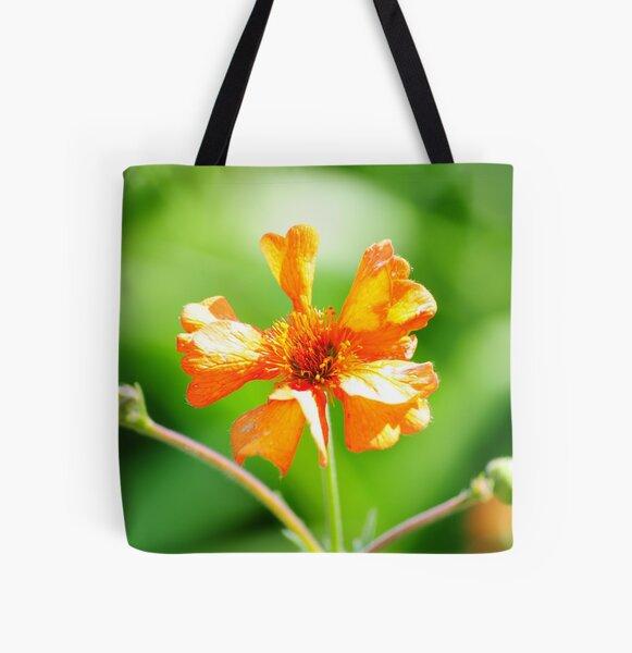 Orange flower All Over Print Tote Bag