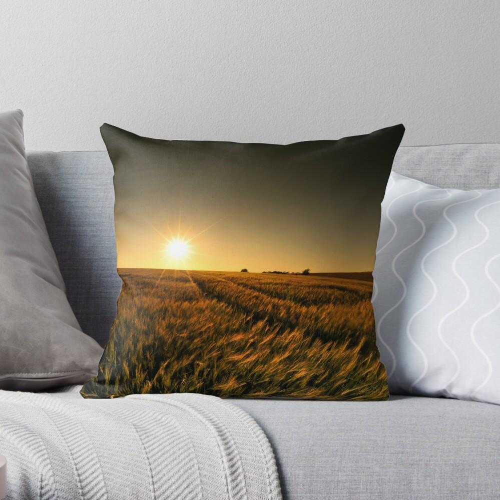 Sunny crop Throw Pillow