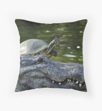 Alligator and Turtle, As Is Throw Pillow