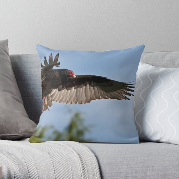 Vulture Descent Throw Pillow
