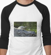 Alligator and Turtle, As Is Men's Baseball ¾ T-Shirt