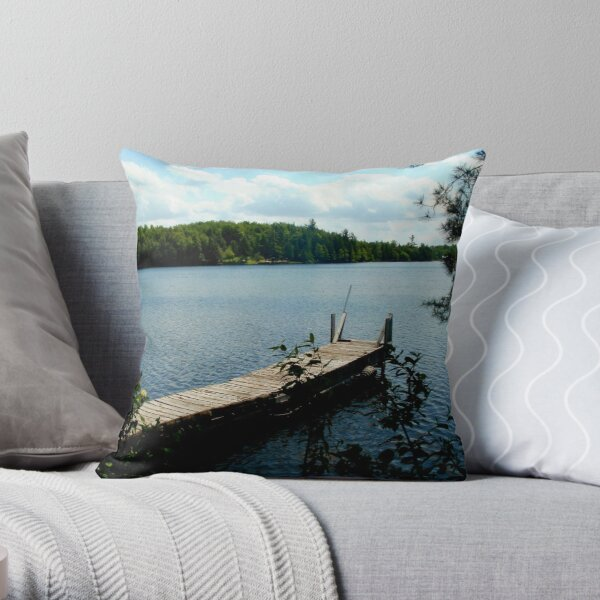 Sterling Pond, Adirdondacks, NY Throw Pillow