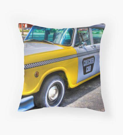 Big Yellow Taxi Throw Pillow