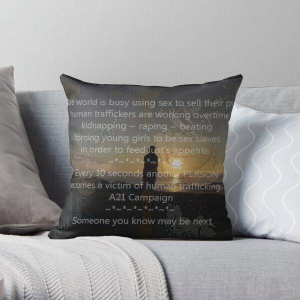 Speaking out Throw Pillow