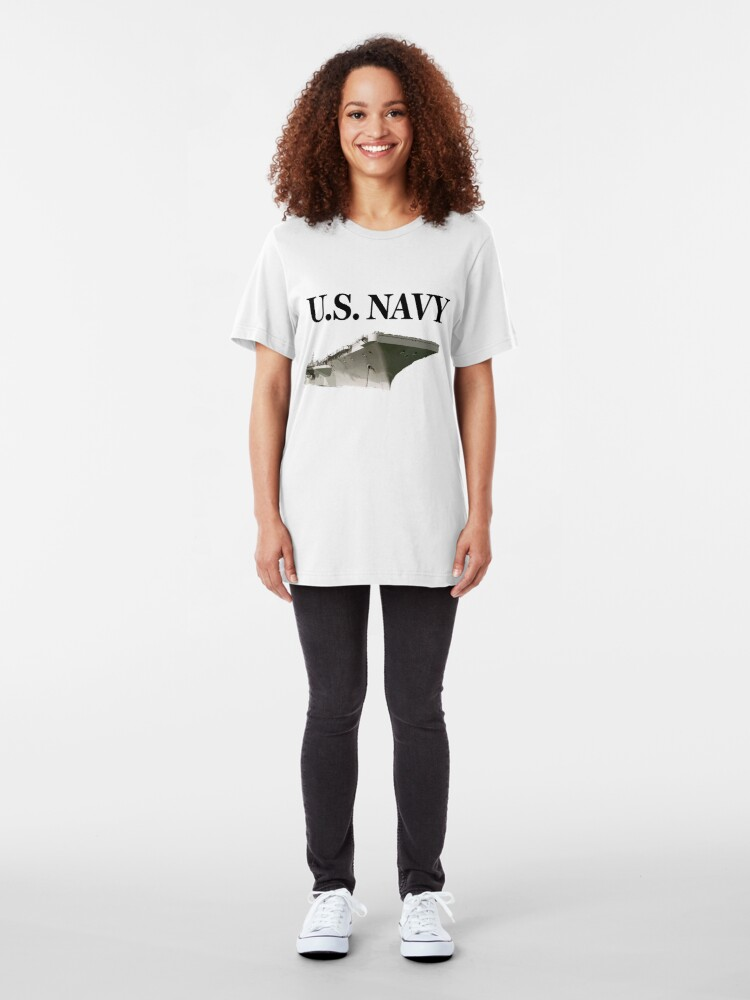Alternate view of U.S. Navy - Aircraft Carrier Slim Fit T-Shirt