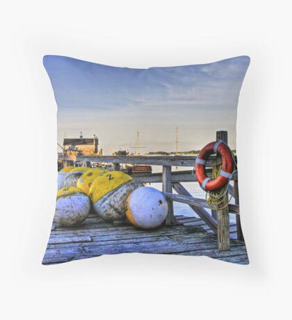 Harbor Dock Throw Pillow
