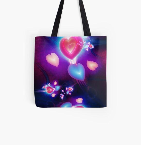 Fractal Love All Over Print Tote Bag