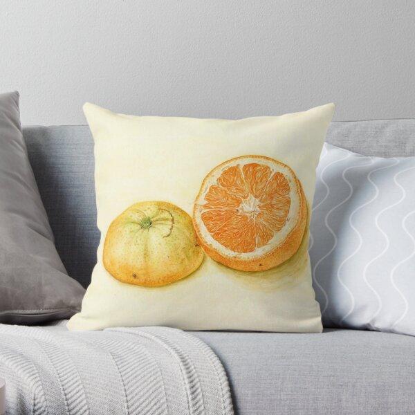 orange stilllife Throw Pillow