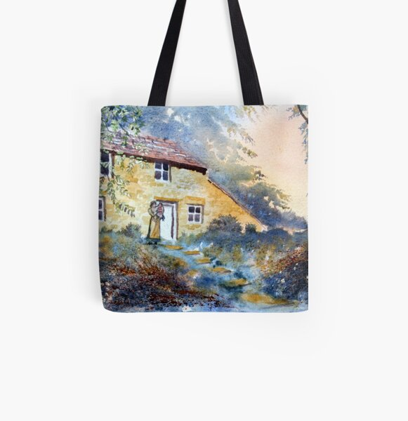 The Dwelling, Hawnby All Over Print Tote Bag