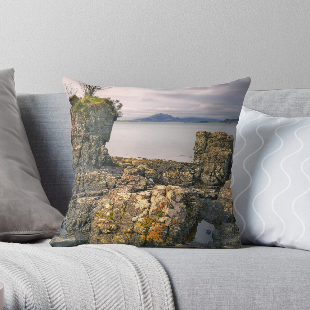 The Painted Rocks (2) Throw Pillow