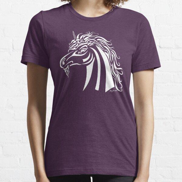 Tribal Unicorn White Essential T-Shirt