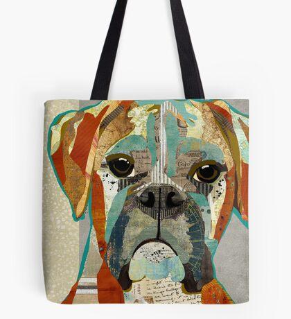 Boxer Dog Portrait Colorful Collage Art  Tote Bag