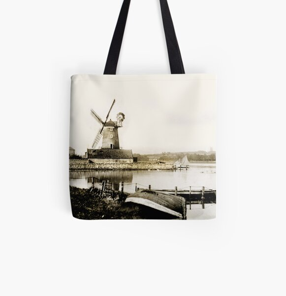 Cley Windmill marsh tide 1900 All Over Print Tote Bag