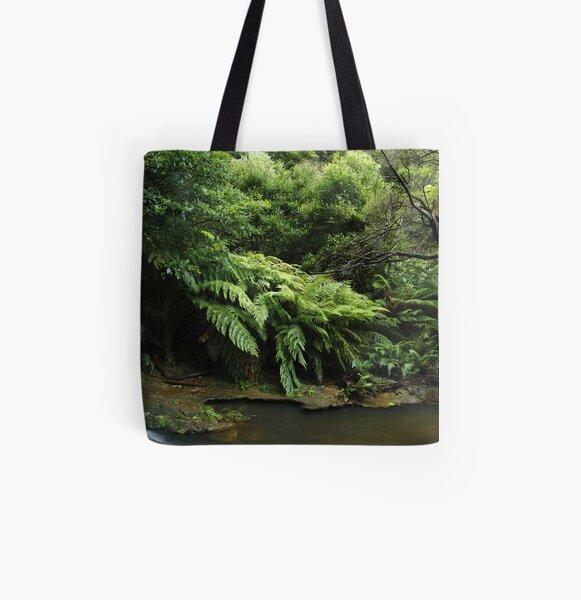 Leura Falls Creek, New South Wales. All Over Print Tote Bag