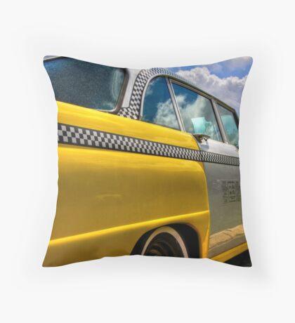 Checker Cab Throw Pillow