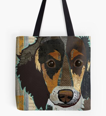 Dachshund / Weiner Dog Portrait Colorful Collage Art  Tote Bag