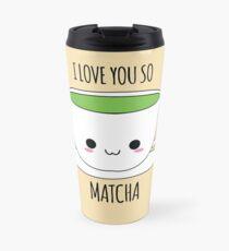 Ich liebe dich so Matcha Thermosbecher