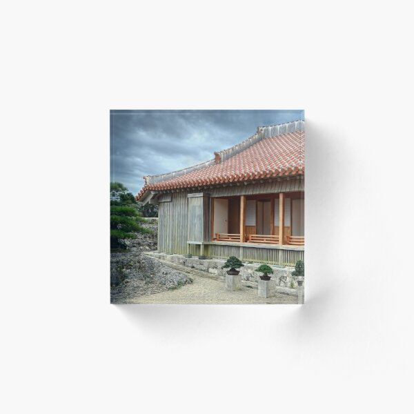 Japanese House Acrylic Block