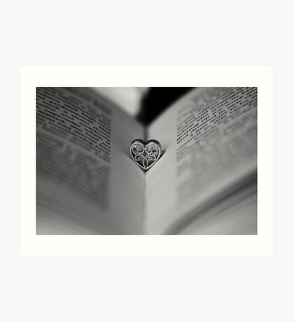 Love Is Like A Book, It Is A Story With Many Pages Art Print