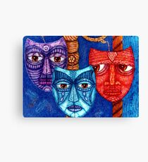 The sadness, the mistrust and the fatigue    Canvas Print