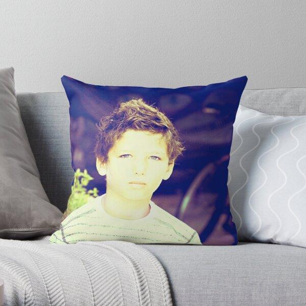 SHY BOY....! Throw Pillow