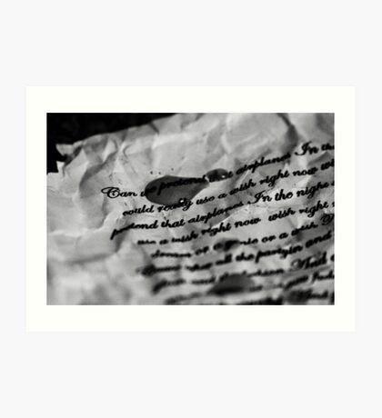 Lyrics - Airplanes, B.O.B ft Hayley Williams and Eminem Art Print