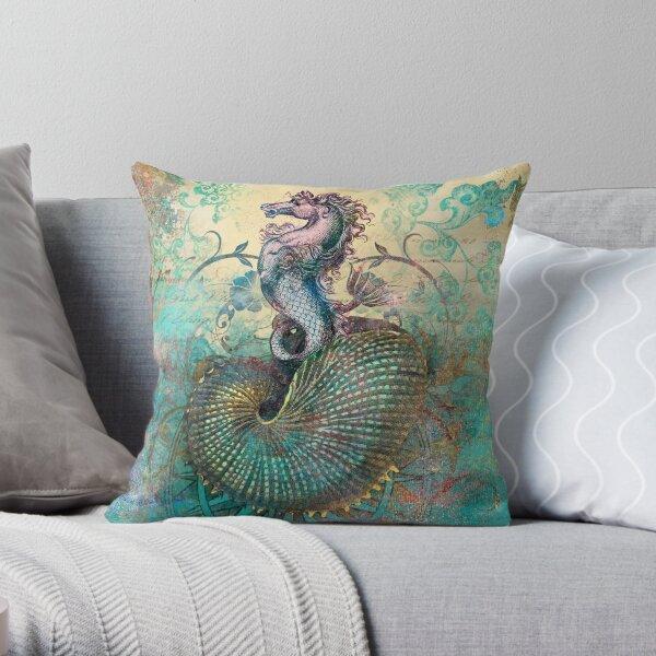 The Seahorse Diary Throw Pillow